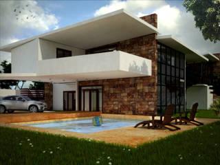 RESIDENCIA DB: Casas de estilo  por MUTAR Arquitectura
