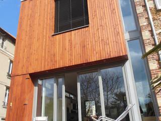 façade sud de l'extension: Maisons de style  par ACG architectes