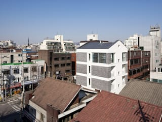 Villa mangwon Modern houses by 에이오에이 아키텍츠 건축사사무소 (aoa architects) Modern