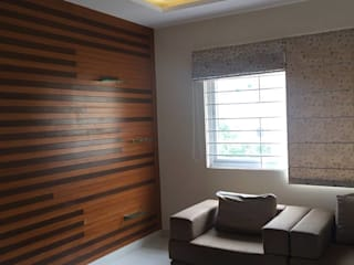 Residential 3bhk, Madhapur:  Living room by DeTekton