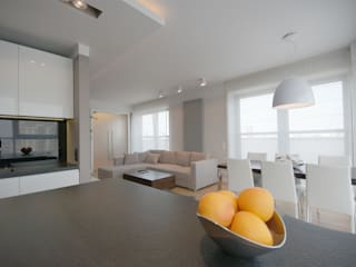 Wnętrze apartamentu Warszawa Mokotów: styl , w kategorii Kuchnia zaprojektowany przez ON/OFF Architekci