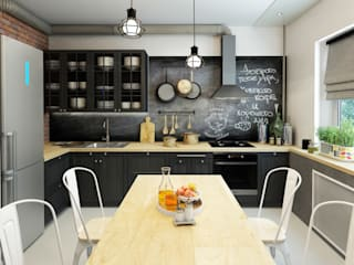 ДизайнМастер Industrial style kitchen Black