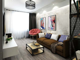 ДизайнМастер Industrial style living room Grey