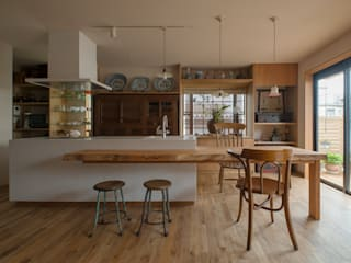 松戸市H邸: スタジオ・スペース・クラフト一級建築士事務所が手掛けたダイニングです。