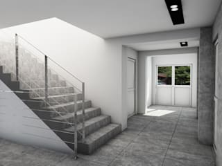 Modern Corridor, Hallway and Staircase by MFA Studio Sp z o.o. Modern