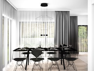 Scandinavian style dining room by MFA Studio Sp z o.o. Scandinavian