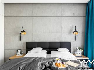 sypialnia z betonem: styl , w kategorii Sypialnia zaprojektowany przez WMA Design