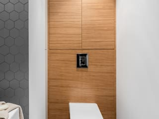łazienka z hexami: styl , w kategorii Łazienka zaprojektowany przez WMA Design