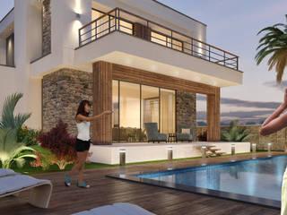 Casas de estilo  por ARTIBODRUM MİMARLIK MÜH.İNŞ.TAAH.TİC.LTD.ŞTİ, Ecléctico