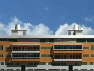 Edifício Praia Oeste : Casas  por José Vitória Arquitectura,Moderno