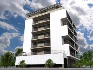 Edifício de Habitação colectiva - Varandas da Ria : Casas  por José Vitória Arquitectura,Moderno