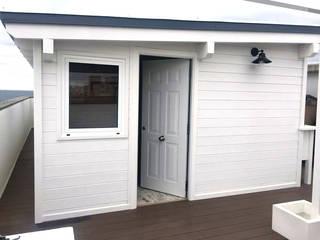 Casetas de madera terrazas patios y exteriores en for Casetas para terrazas