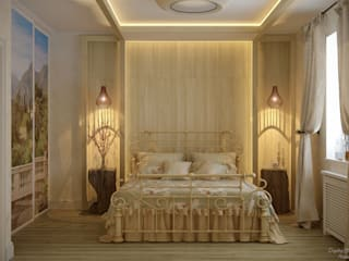 Country style bedroom by Студия интерьерного дизайна happy.design Country