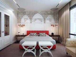 eclectic Bedroom by KAPRANDESIGN