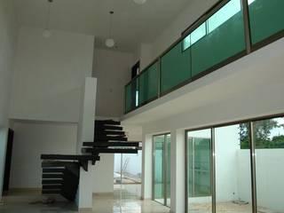 Modern corridor, hallway & stairs by Base cubica Arquitectos Modern