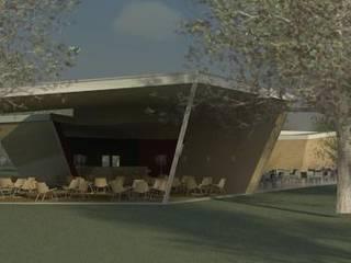 Restaurante e Bar - exterior 3: Espaços de restauração  por Atelier 12