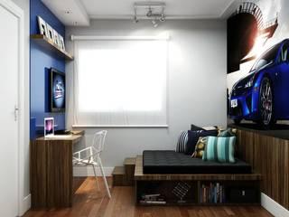 Dormitorios de estilo  por SEMARA BRITO - DESIGN PROJETOS E INTERIORES, Moderno