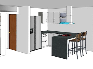 Remodelar Proyectos Integrales Modern kitchen MDF White