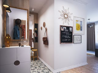 Corridor Polygon arch&des Scandinavian style corridor, hallway& stairs