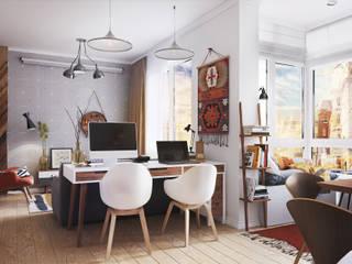 Apartment Myalik Гостиная в скандинавском стиле от Polygon arch&des Скандинавский