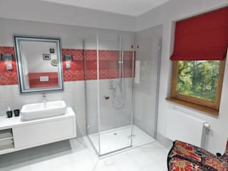 łazienka gościnna: styl , w kategorii  zaprojektowany przez WGW
