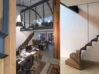 Oficinas y bibliotecas de estilo industrial de Tijmen Bos Architecten Industrial