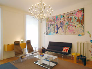 Eclectic style living room by Fabio Azzolina Architetto Eclectic