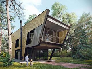 NEWOOD - Современные деревянные дома Casas modernas Madeira Acabamento em madeira