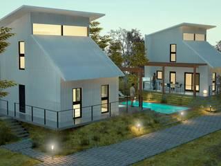 CABAÑAS PRE-FABRICADAS : Casas de estilo  por FILIPPIS/DIP - DISEÑO Y CONSTRUCCION