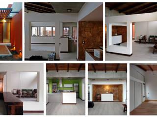 Casa patios entre medianeras: Comedores de estilo ecléctico por 1.61 Arquitectos