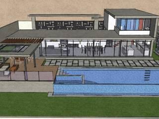 Exteriores de Casa Moderna - Diseño Arquitectonico Casas modernas de Atahualpa 3D Moderno