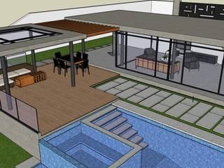 Exteriores de Casa Moderna - Diseño Arquitectonico Piscinas de estilo moderno de Atahualpa 3D Moderno