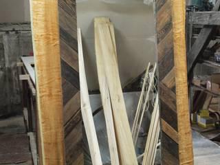 Lustro rustykalne w ramie drewnianej od Stolarstwo Art Rustykalny