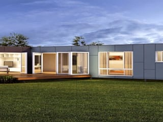Construcciones F. Rivaz Prefabricated home Wood-Plastic Composite Brown