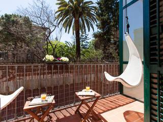 Balcon, Veranda & Terrasse méditerranéens par 02_BASSO Arquitectos Méditerranéen