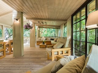 Balcon, Veranda & Terrasse industriels par Tony House Interior Design & Decoration Industriel