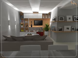 Humanize Arquitetura Modern style media rooms