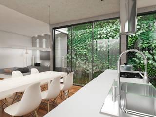 Casa Urbana NR1: Salas de jantar  por Adilson João Tomé Manuel / Arquiteto e Urbanista