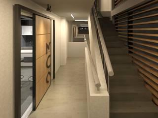 ห้องโถงทางเดินและบันไดสมัยใหม่ โดย COLECTIVO CREATIVO โมเดิร์น