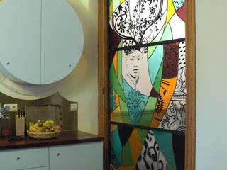 Cerfleur Couloir, entrée, escaliers modernes par Atelier Murielle Vissault Moderne