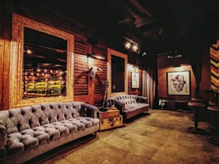 Estilo en muebles Modern bars & clubs Grey