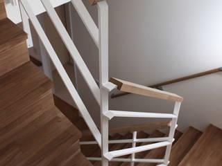 階段: 真島瞬一級建築士事務所が手掛けた廊下 & 玄関です。