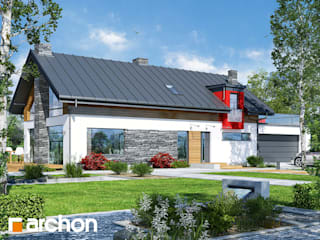 Projekt domu ARCHON+ Dom w laurach (G2P) od ARCHON+ PROJEKTY DOMÓW