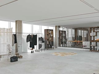 Pasillos, vestíbulos y escaleras de estilo moderno de Opera s.r.l. Moderno