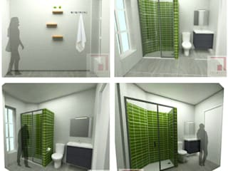 Propuesta en 3D de un Baño de RESERVIC reformas e instalaciones