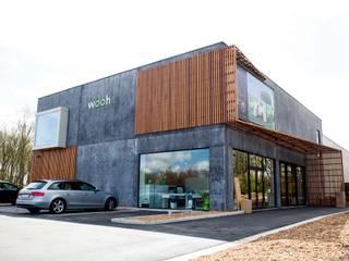 Vue d'ensemble: Espaces commerciaux de style  par helium3 positive architecture