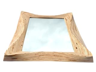 Wooden wall hanging mirror by SurreyWoodsmiths:   by SurreyWoodsmiths