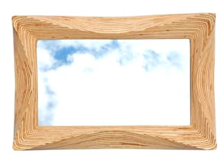 Wooden wall mirror by SurreyWoodsmiths:   by SurreyWoodsmiths