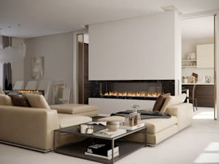 APARTMENT L+S: Soggiorno in stile in stile Moderno di ARCHILAB architettura e design