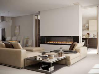 Salon moderne par ARCHILAB architettura e design Moderne